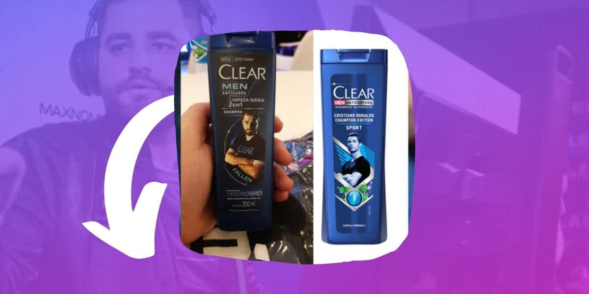 CSGO Star Fallen Appears On Clear Shampoo In Brazil